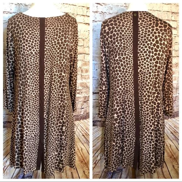 Soft Surroundings brown animal print tunic